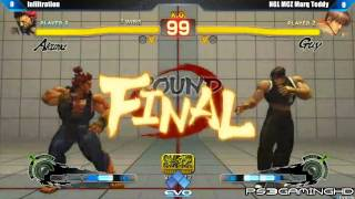 EVO 2K13: SSF4 AE Infiltration (Akuma) vs Marq Teddy (Guy) [HD]