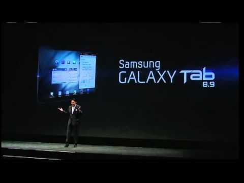 samsung galaxy tab 8.9 official presentation youtube