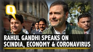 Rahul Gandhi Speaks on Scindia Joining BJP, Economy & Coronavirus in India | The Quint