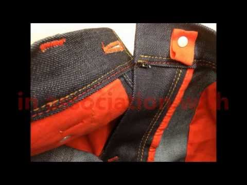 Making of blue-jeans RAW - designer jeans men s style