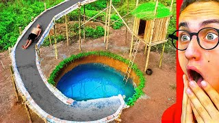 They Made A CRAZY SECRET UNDERGROUND WATERSLIDE!