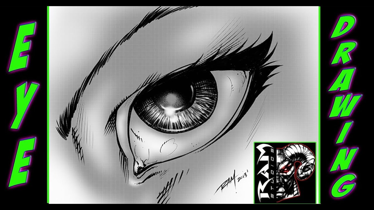 Eye Drawing Comic Book Style