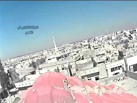 20130320   Homs   Al Qusayr City   Powerful explosion after rocket hit city