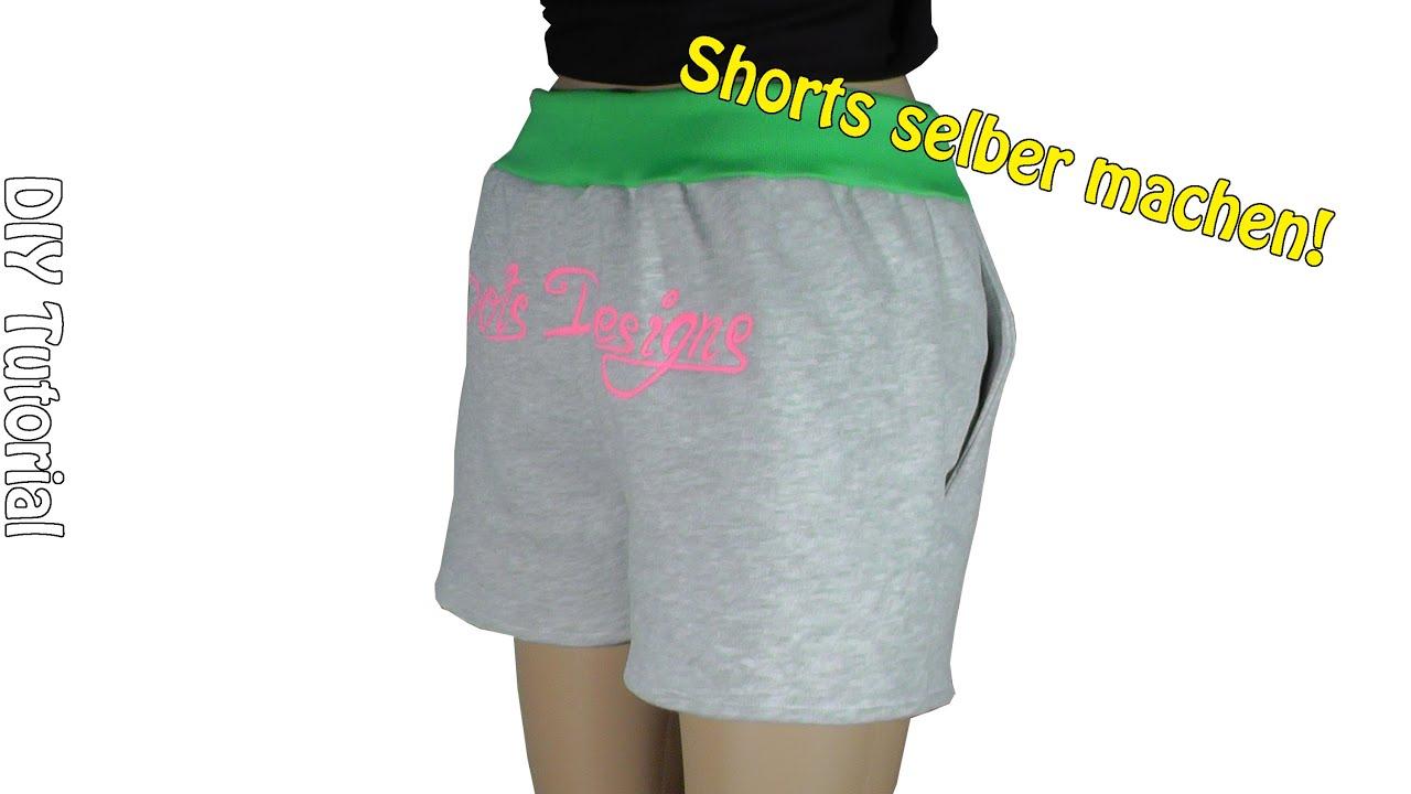 diy shorts selber machen n hen f r anf nger tutorial. Black Bedroom Furniture Sets. Home Design Ideas
