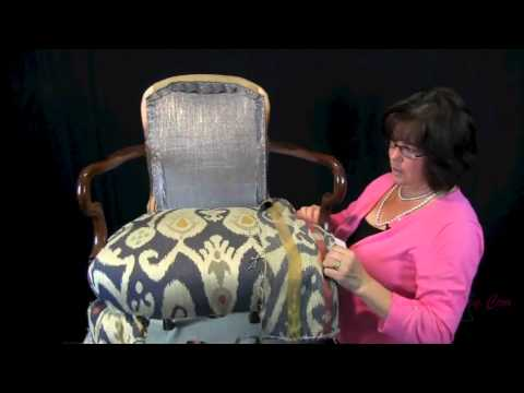 How To Upholster A Wooden Arm Chair For The Upholstery