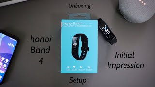 Honor band 4 unboxing, setup and initial impression!!(Black variant)