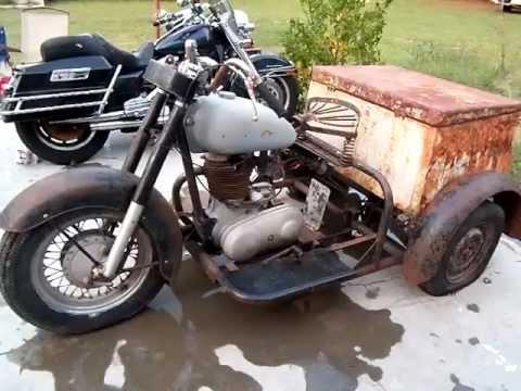 1959 indian 3 wheeler mp4 youtube for Three wheel motor bike in india