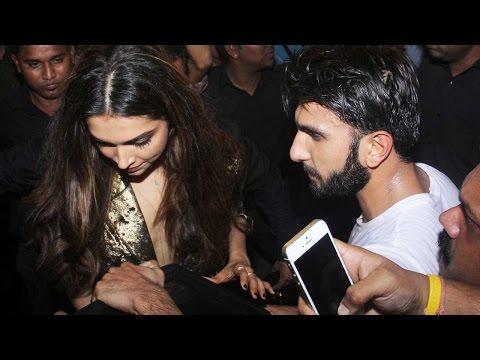 Boyfriend Ranveer Singh Protects Deepika Padukone From Huge Crowd After The Party