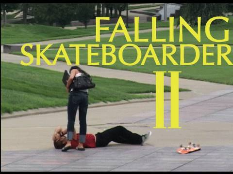 Public Pranks: The Falling Skateboarder 2