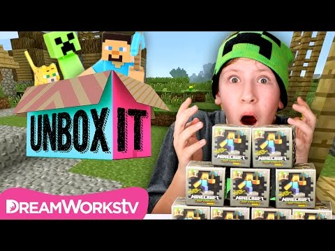 Minecraft Craftables Blind Box Series 1 Buildable Figures with ThatCrazyFamily | UNBOX IT