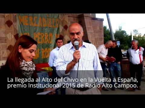 Premio 2015 de Radio Alto Campoo, a Santiago Recio