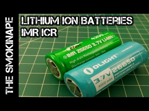 Rechargeable Lithium Ion Batteries IMR ICR (Flashlight and Vape) - TheSmokinApe