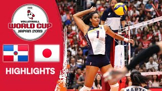 DOMINICAN REPUBLIC vs. JAPAN - Highlights | Women's Volleyball World Cup 2019