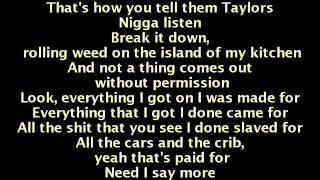 Wiz Khalifa ft. The Weeknd - Remember You (Lyrics On Screen)