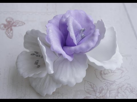 Цветок заколка мастер класс