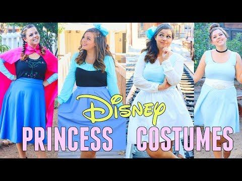 DIY DISNEY PRINCESS HALLOWEEN COSTUMES 2017!! DIY COSTUMES FOR ARIEL. BELLE. ANNA. & CINDERELLA!