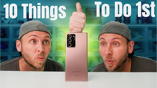 01. Galaxy Note 20 Ultra Unboxing and First 10 Things To Do!