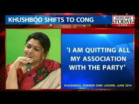 Khushboo quit over rift with DMK leaders