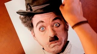 CHARLIE CHAPLIN speed drawing IN COLOR