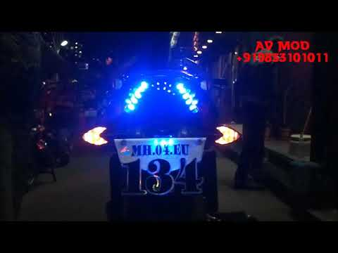 PULSAR 135 LS PROJECTOR HEADLIGHT & LED TAILLIGHT BY VISHAL