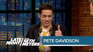 Download Lagu Pete Davidson Met His Look-ALike Christian Yelich - Late Night with Seth Meyers Gratis STAFABAND
