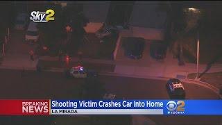 Shooting Victim Crashes Car Into Home