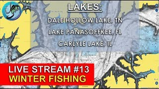 Fish the Moment Live Stream #13 | Winter Bass Fishing Lake Breakdowns