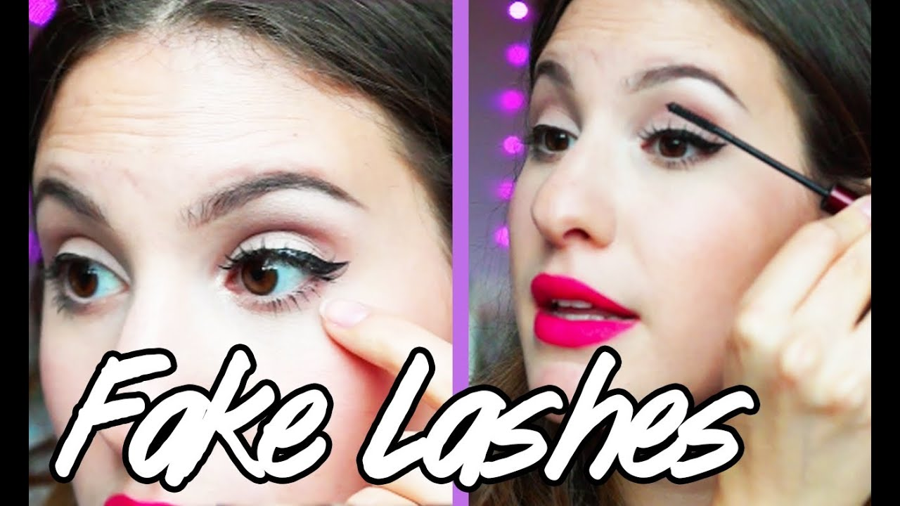 how to put on fake lashes youtube