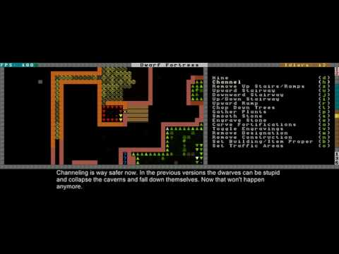 Dwarf Fortress Video Tutorial 2010 part 02 - Farming & Channeling 2010