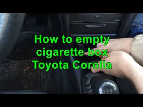 How to empty cigarette box Toyota Corolla. Years 2000 to 2015