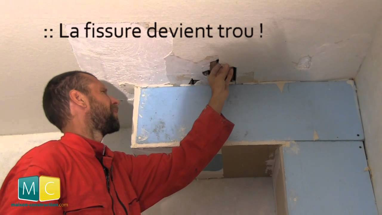 R nover un plafond 1 2 youtube for Renover plafond abime