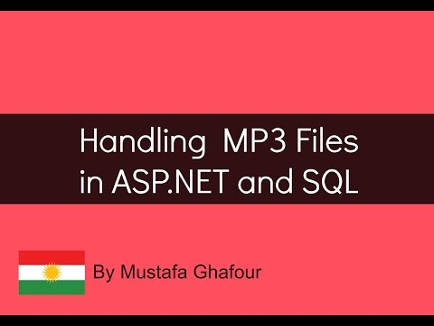 Insert MP3 file into SQL using Asp.net