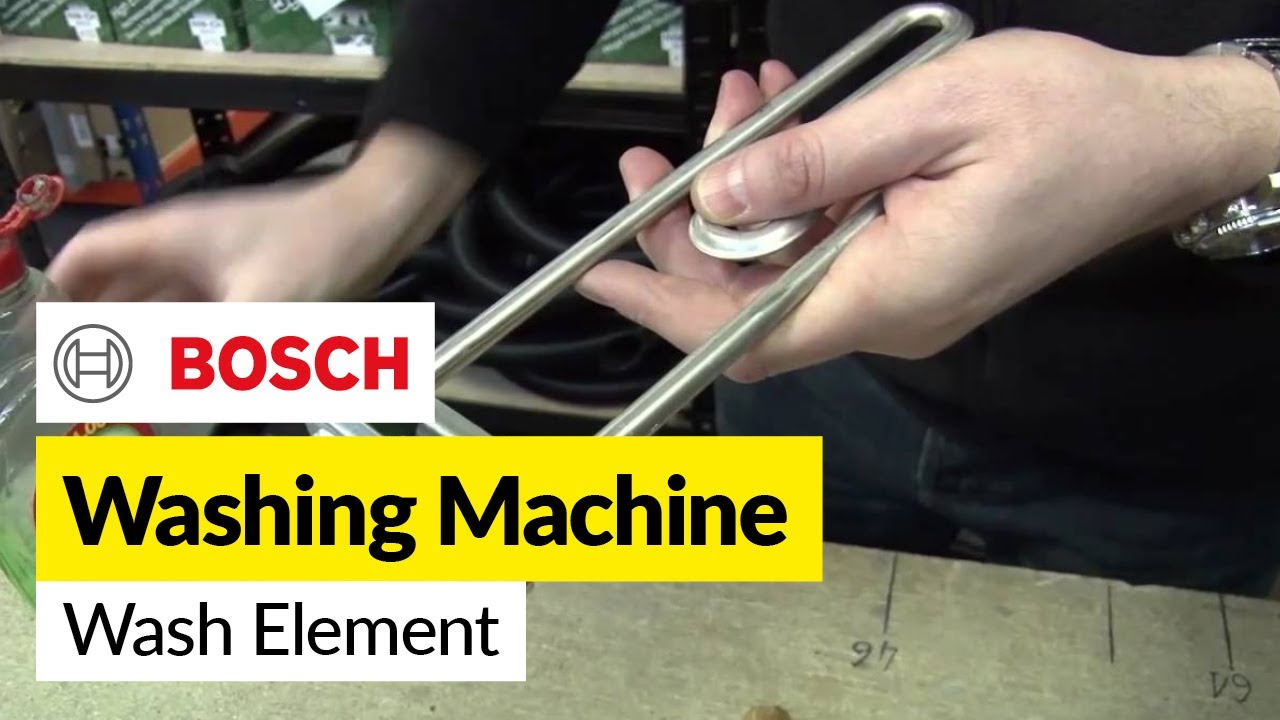 How To Replace A Washing Machine Element Front Mounted