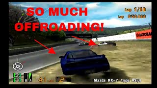 Gran Turismo 3 EPIC RACE! Turbo Race in Professional League! Lots of AI Offroading!