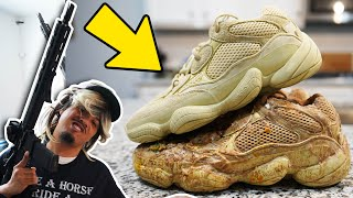 HOW TO RUIN A BRAND NEW PAIR OF YEEZYS !!! CAN THEY BE FIX ?!?