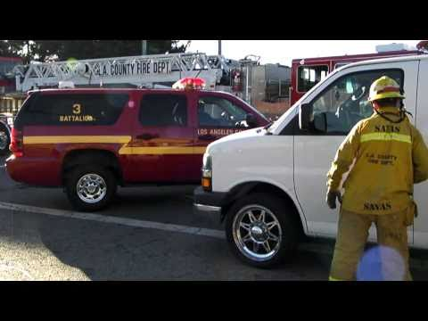 LA County Fire Department-Structure Fire-Bell Gardens