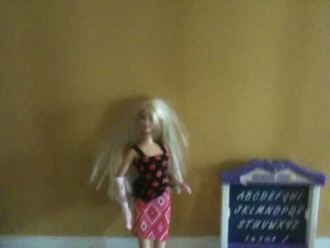 Funny Barbie Video (barbies go to school)