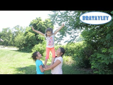 Cute Cheerleading Stunts! (WK 183.4) | Bratayley Music Videos