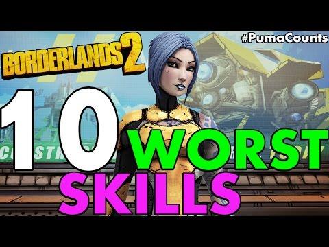 Top 10 Worst Skills in Borderlands 2 #PumaCounts