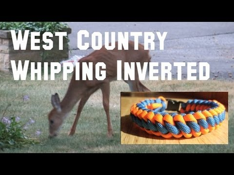 How to make a West Country Whipping Inverted Paracord Bracelet (3/8