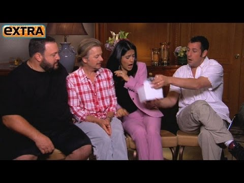 'extra' Surprises Salma Hayek And Cast Of 'grown Ups 2' video