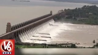 After 2014, Tungabhadra Dam Gates Lifted Due To Heavy Inflow