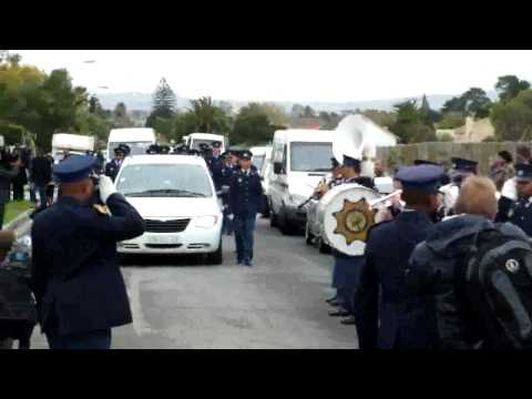 Funeral of policeman, Canon Cloete,killed in the line of duty ,Kraaifontein 22.05.11