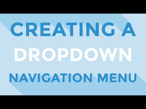 HTML & CSS - Creating a dropdown navigation menu