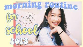🌞 THÓI QUEN BUỔI SÁNG TRƯỚC KHI ĐI HỌC CỦA TRÂN 🌻 Morning Routine for School 2018 | Diane Le