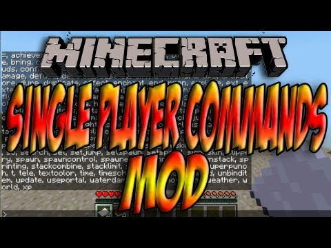 Minecraft 1.5.2/1.5.1 - Como Instalar SINGLE PLAYER COMMANDS MOD - ESPAÑOL [HD] 1080p