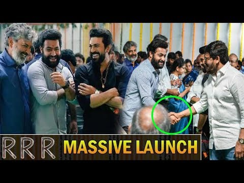 Rajamouli RRR launching Latest Stills | Rajamouli RRR Latest Poster Released | Tollywood Nagar