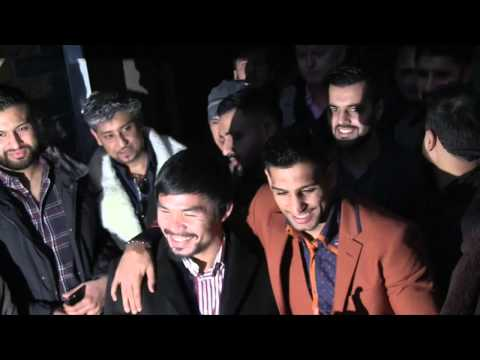 MANNY PACQUIAO & AMIR KHAN TOGETHER IN LONDON - AHEAD OF POSSIBLE FIGHT ???