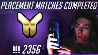 CODEY GETS 2K SR ON THE MAIN ACCOUNT?! NEW COMPETITIVE IS BROKEN OVERWATCH! PLACEMENT