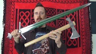 Pros and cons of axes compared to swords
